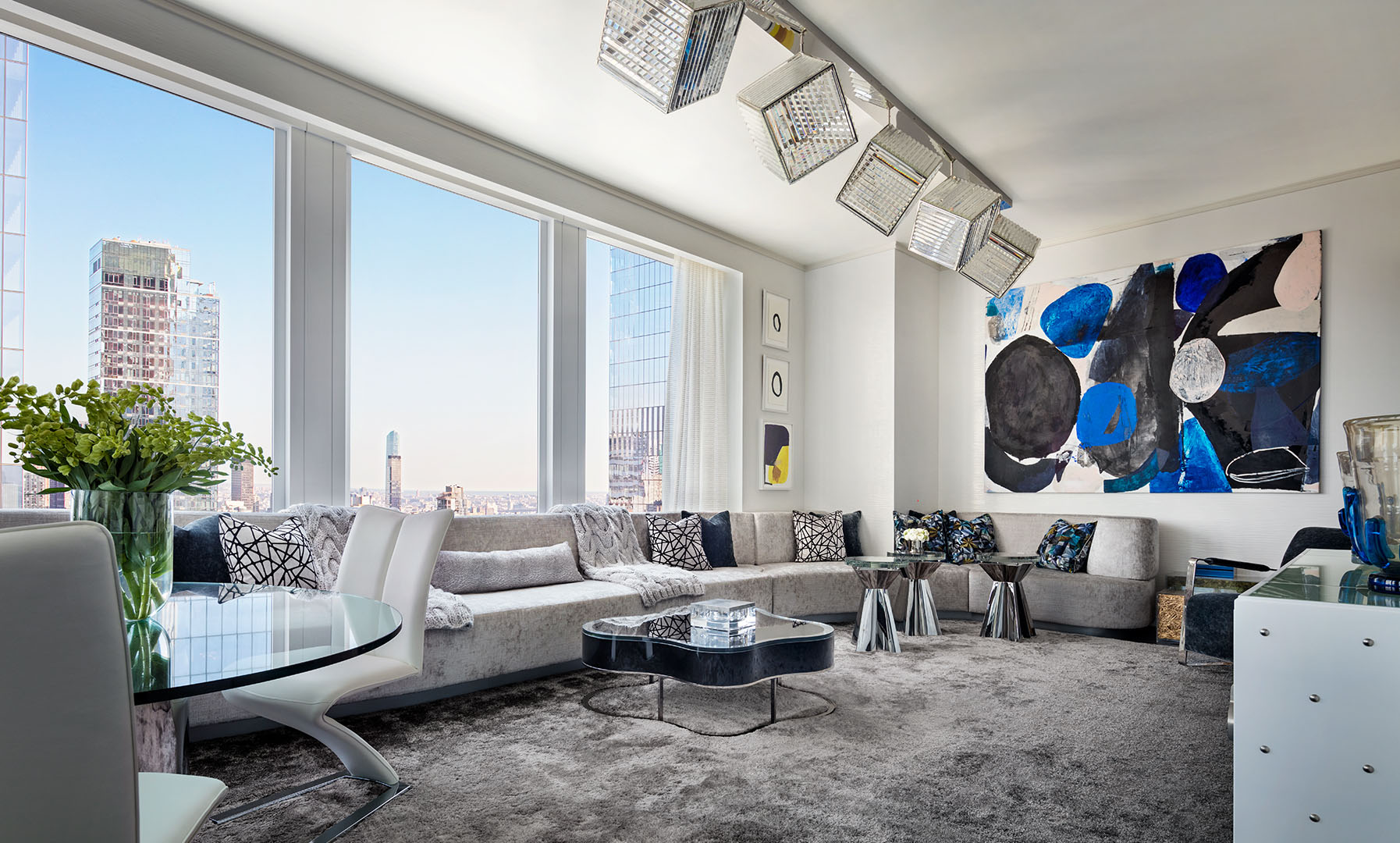 East facing corner Living Room