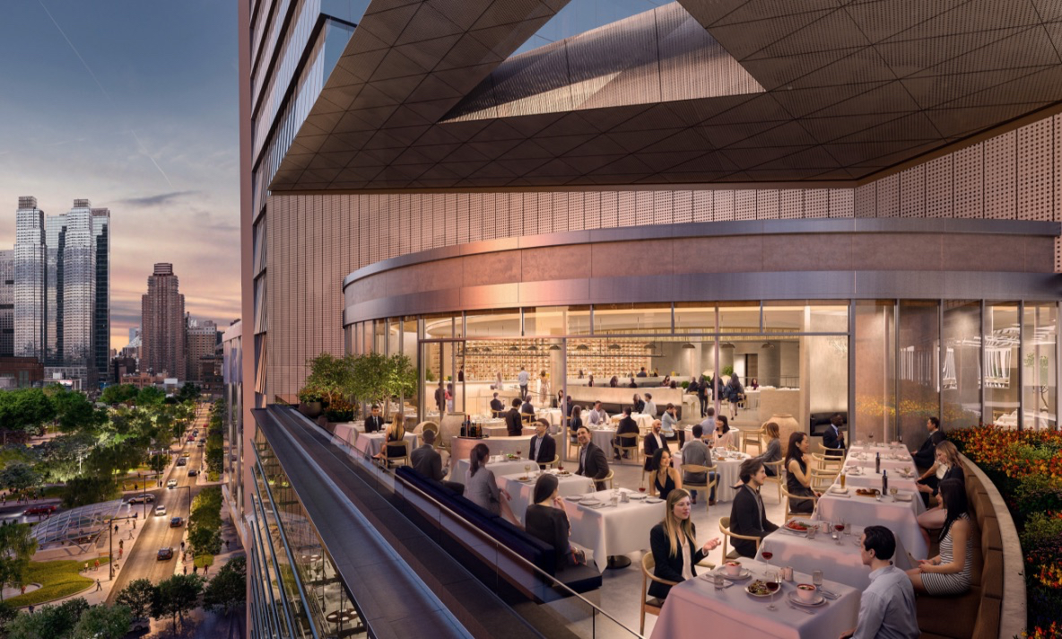 Estiatorio Milos terrace at The Shops & Restaurants at Hudson Yards