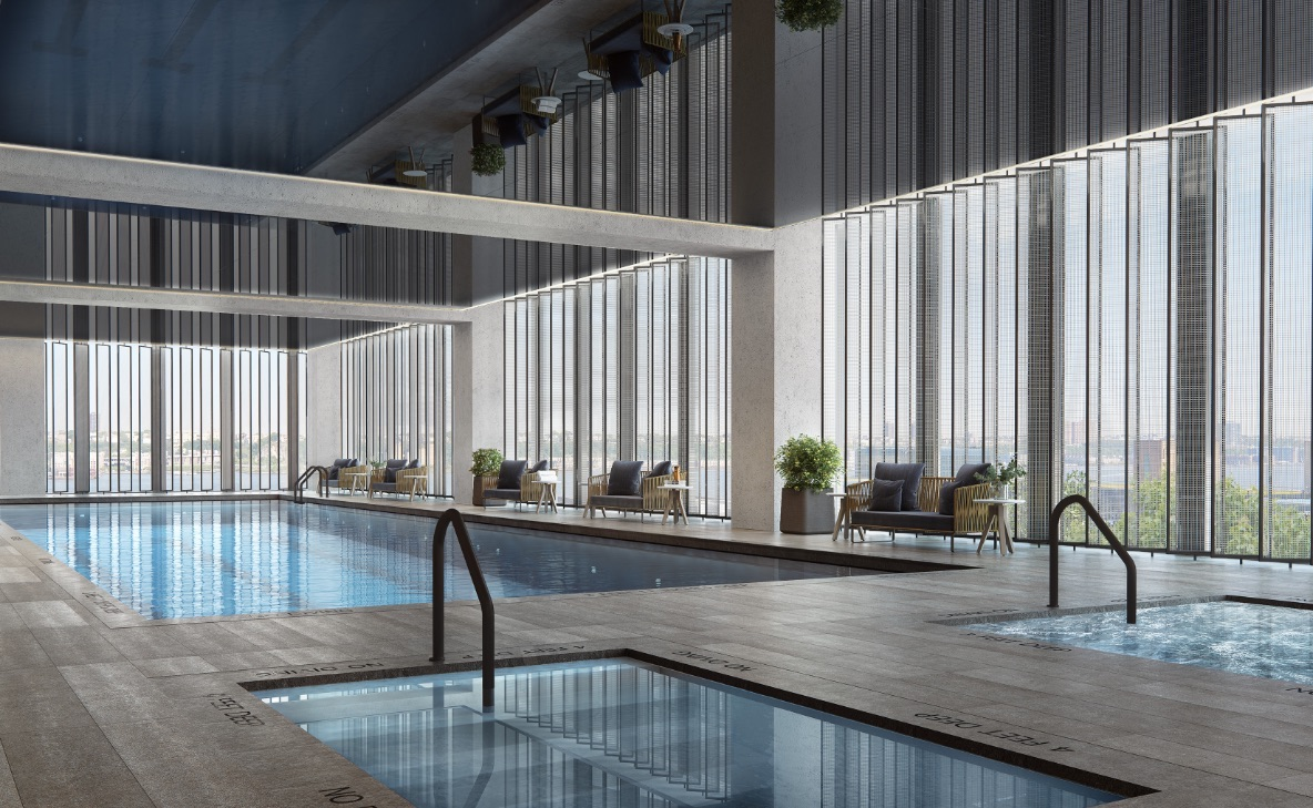 Equinox's indoor swimming pool