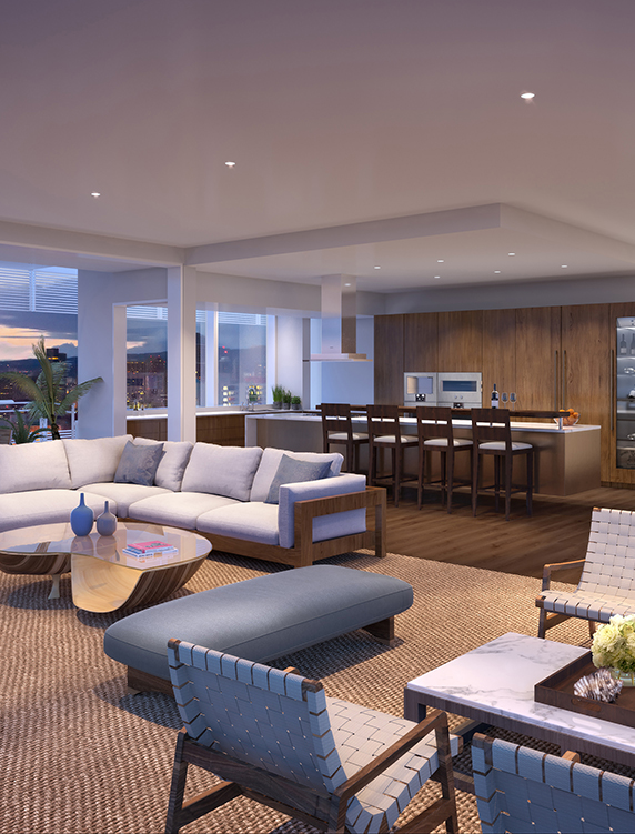 Private Residence in Richard Meier's Perry Street building, New York