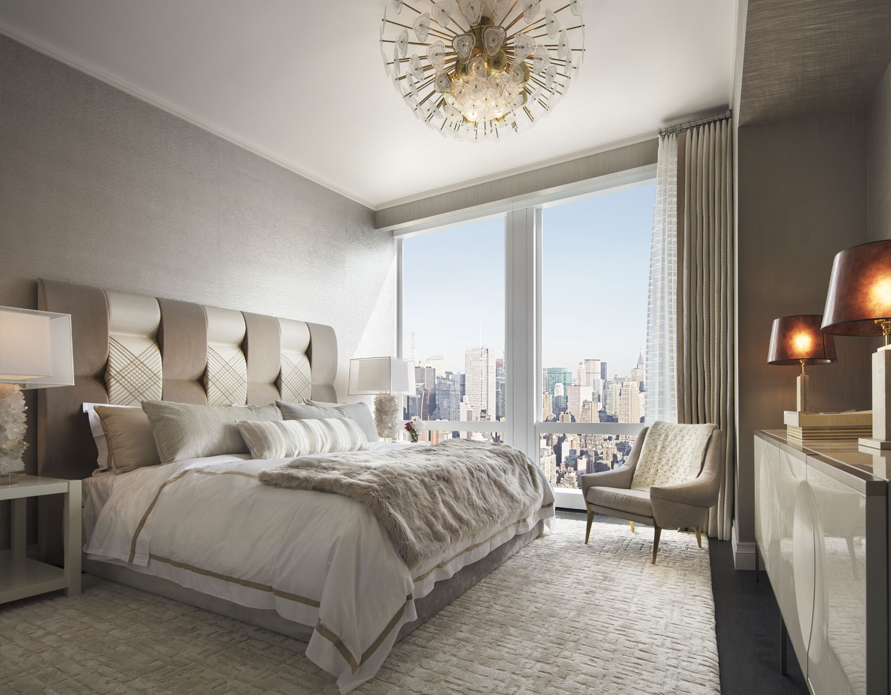 Secondary Bedroom Suite with city views to the east